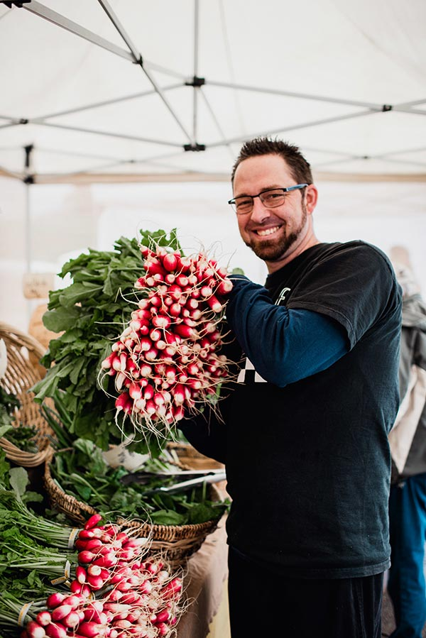 Chef William Shine At Farmers Market