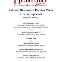 2017 Restaurant Week Specials